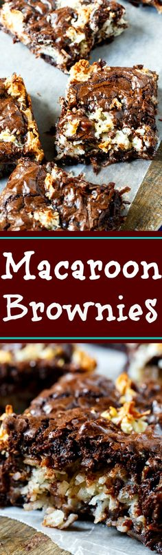 Super easy Macaroon Brownies made from boxed brownie mix.