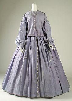 Dress Date: 1860s Culture: American Medium: cotton Accession Number: 1981.49.4a, b