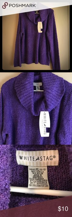 White Stag XL Purple Cowl Neck Sweater White Stag XL Vibrant Purple Cowl Neck Sweater. NWT White Stag Sweaters Cowl & Turtlenecks