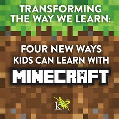 Do your kids love #Minecraft? Find out how kids can dig deep into learning, while having fun mining, building, and exploring in the Minecraft world. | K12 Blog thinktanK12
