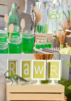 Dino Mite Dinosaur themed birthday party with TONS of cute and easy ideas! Via Karas Party Ideas KarasPartyIdeas.com #dinosaur #birthday #party #theme #supplies