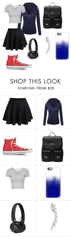 """""""Uchiha Sasuke"""" by tokyocity7 on Polyvore featuring WithChic, Converse, Sole Society, Topshop, Casetify and Master & Dynamic"""