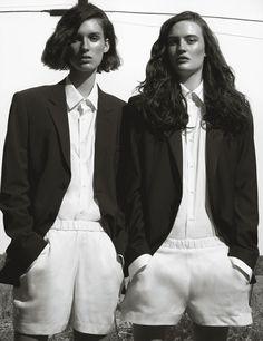 Black and white basics for spring - Black and white basics for spring, shot by Michael Thompson | W Magazine
