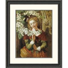 Global Gallery 'May' by Daniel Maclise Framed Painting Print Size: