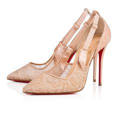 d0dd1cf8b23f Hot Jeanbi 100 Nude Dentelle - Women Shoes - Christian Louboutin