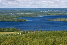 Näkymä Väisälänmäen näkötornista Paasiselälle Finland