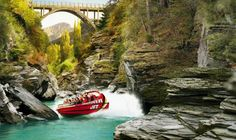 Shotover River Extreme Jet Boat Ride from Queenstown.  http://www.backpackerdeals.com/new-zealand/queenstown/shotover-river-extreme-jet-boat-ride