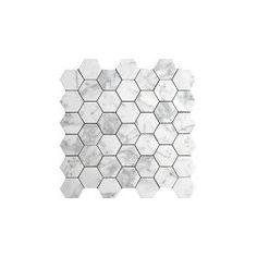 "$10.15/sf 2"" Carrara hex"