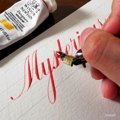 Fonts Alphabet Discover Mysterious Mysterious written in the Copperplate script Calligraphy Video, Calligraphy Tutorial, Calligraphy Drawing, Copperplate Calligraphy, Hand Lettering Tutorial, How To Write Calligraphy, Calligraphy Handwriting, Calligraphy Letters, Creative Lettering
