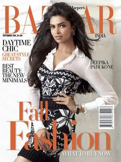 Harper's Bazaar India, September Deepika Padukone on the Magazine Cover. V Magazine, Magazine Covers, Indian Bollywood Actress, Indian Actresses, Cosmopolitan, Marie Claire, Vanity Fair, Nylons, Grace Harper