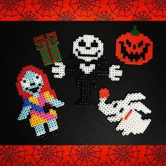 Nightmare Before Christmas perler beads by akirockrock