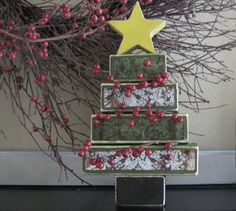 2x4 Christmas Trees...we're thinking of doing this for our relief society December craft night!