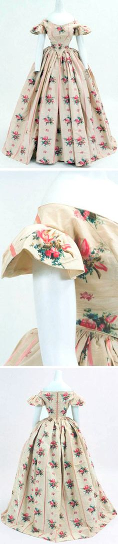 Ball gown for a young lady, U.K., circa 1860. Bunka Gakuen Costume Museum, Tokyo.