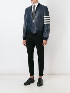 Thom Browne stripe sleeve detail jacket