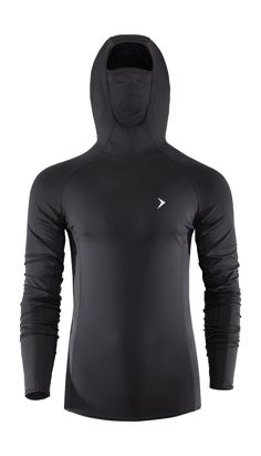 Thermoactive blouse with integrated hood and additional collar, which protects your face from the cold. Multifunctional, will be perfect as an underwear for skiing, and  as a shirt for the morning jogging.   Benefits: -tailored cut will underline the men's shapes -soft touch fabric -multifunctional