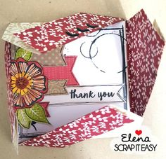 Oggi sul blog di Scrap it Easy trovate un piccolo tutorial per realizzare due originali buste porta card con la tecnica degli origami:
