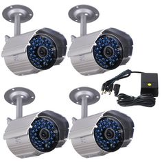 VideoSecu 4 x Outdoor IR Night Vision 520TVL Home CCTV Surveillance Security Cameras 36 Infrared LEDs Weatherproof Built-in Mechanical IR-Cut Filter Switch with 1 of 4 Channel Power Supply WK7 For Sale https://wirelesssecuritycamerasusa.info/videosecu-4-x-outdoor-ir-night-vision-520tvl-home-cctv-surveillance-security-cameras-36-infrared-leds-weatherproof-built-in-mechanical-ir-cut-filter-switch-with-1-of-4-channel-power-supply-wk7-for-sal/