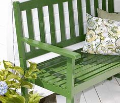 Painted patio furniture. Great color!