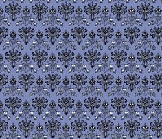 Haunted Mansion fabric by knittychick on Spoonflower - custom fabric  @Danielle Strickland is this what you wanted?