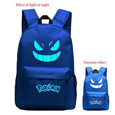 awesome £25.99 Features: Mainly made with high-grade durable nylon cloth, classical and refining design. Mixmatch with qualify PU leather acc... Check more at http://fisheyepix.co.uk/shop/masimiele-noctilucous-pokemon-unisex-classic-travel-laptop-backpacks-school-bookbags-blue/