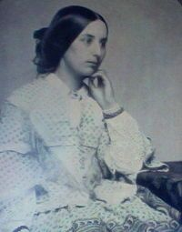 Ambrotype of Fanny Brawne taken ca. 1850 - She was the love of poet John Keats life. Brawne stayed in mourning for six years. In 1833, more than 12 years after his death, she married and went on to have three children; she outlived Keats by more than 40 years.
