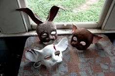 papier mache animal masks