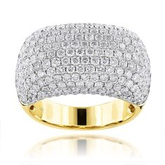 Luxurman 14k Gold 7ct TDW Round-cut Diamond Ring (F-G, VS1-VS2) (14k Yellow Gold Size 12.5), Women's