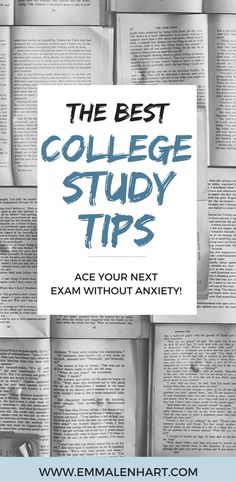 Find 20 study tips for college students to use in order to succeed on their next exam. Great tips for college students who want to do well in their classes! Get a 4.0 in college.
