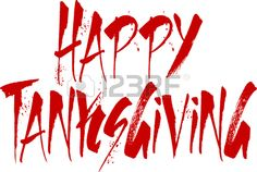 happy tanksgiving word writen on a white Background