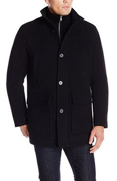 Calvin Klein Men's Double-Breasted Pea Coat | Men's Coats ...