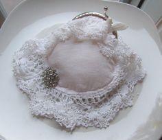 White Crochet Coin Purse  Romantic  Doily  by NanasSunshine