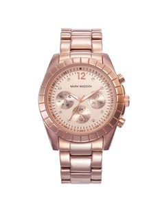 Reloj multifunción brazalete con acabado IP Rosa y cierre desplegable.  Cristal mineral e impermeable b171c5b9a96f
