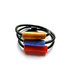 NORA-LAO. Pulsera de vidrio de Murano / Murano glass bracelet de QUMjoyas en Etsy Murano Glass, Colored Glass, Blown Glass, Bracelet, Jewelery, Coloured Glass, Stained Glass