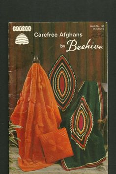 KNITTING and CROCHET Pattern Book for AFGHANS  by KenyonBooks, $4.00