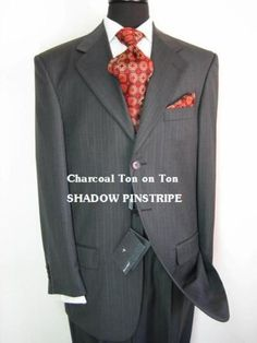 Enhance your business attire with the everyday elegance and handsome style with shadow pinstripe suit. Discount Suits, Zoot Suits, Best Suits For Men, Man Suit, Pinstripe Suit, Tuxedos, Suit Separates, Business Attire, Stylish Men