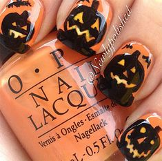 Pumpkin Nail Art Designs Pumpkins