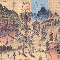 Daniel Martin Diaz – The Warning Geometry Art, Sacred Geometry, Paradise Lost Book, Outsider Art Fair, Esoteric Art, Occult Art, Alien Art, Mystique, 3d Prints