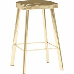 The Constantine Stool is purely an object of desire for those that lust for shinny and pure decor. In high polished gold, it is fitting for kings and emperors. With its sleek lines and unobtrusive design, it will be a perfect stool for your modern kitchen