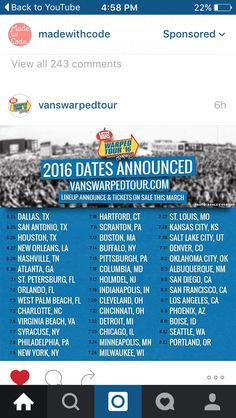 Warped Tour dates released Summertime Madness, Band Quotes, Warped Tour, Pierce The Veil, Pop Punk, Kinds Of People, Twenty One Pilots, Life Goals, Music Bands