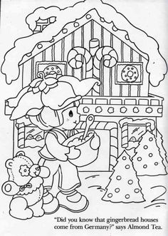 Almond Tea and Marza Panda at Christmas. Strawberry Shortcake Coloring Sheet.
