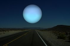 Uranus, which is only slightly larger than Neptune, would provide a very similar view. (And again, Earth would be the satellite here, and would be tidally locked, meaning one side would always face Uranus, and one side would always face away.)