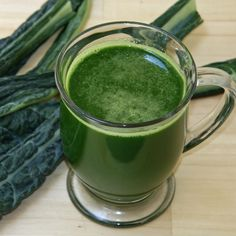 Skip the Coffee For This Energizing Green Juice Recipe::      INGREDIENTS    4 leaves organic lacinato kale  1 organic cucumber  3 cups organic spinach  5 stalks organic celery  1/2 bunch organic parsley