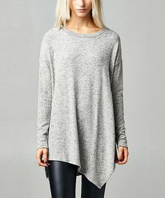 Another great find on #zulily! Heather Gray Hacci-Knit Tunic by Elegant Apparel #zulilyfinds