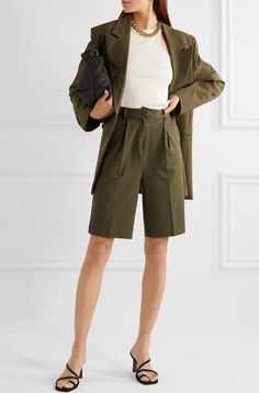 2020 fashion trends for the grown-ups - Short suits – and by that I mean Bermuda short suits – seem set to be a key fashion trend for 2 - 2020 Fashion Trends, Fashion 2020, Short Outfits, Summer Outfits, Look Con Short, Bermudas Shorts, Short Suit, Tennis Clothes, Suits You