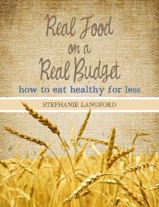 good frugal food book claims to save 20-30% on food budget, while eating better quality and more nutritiously.