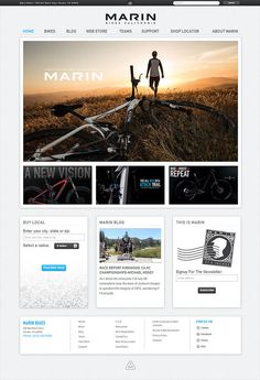 Marin+Bikes - CoolHomepages Web Design Gallery