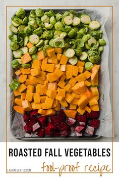 Want to find an easier way to get your family loving their vegetables? This recipe for Roasted Fall Vegetables with butternut squash, Brussels sprouts, and beets will do the trick!