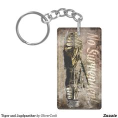Tiger and Jagdpanther Double-Sided Rectangular Acrylic Key Ring Key Rings, Military, Wallet, Metal, Vintage, Key Fobs, Metals, Vintage Comics, Purses