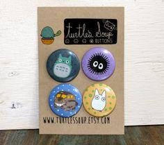 Mi vecino Totoro Pinback botón o imán Set/Pack