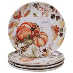 Certified International Harvest Splash Multi-Colored 11 in. Dinner Plate Set - The Home Depot - Trend Appetizer Fine Dining 2019 Thanksgiving Dinner Plates, Thanksgiving Decorations, Turkey Platter, Appetizer Plates, Dinner Plate Sets, Dinnerware Sets, Holiday Tables, Fall Harvest